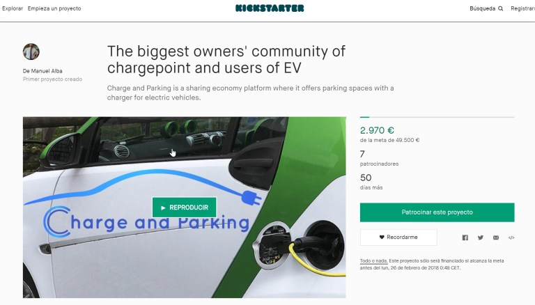 Kickstarter Charge and Parking